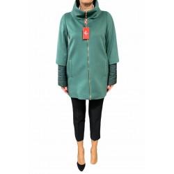 Giaccone Donna con manica 3/4 trapuntata verde Piacenza