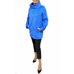 Giaccone Donna con manica 3/4 trapuntata azzurro Piacenza
