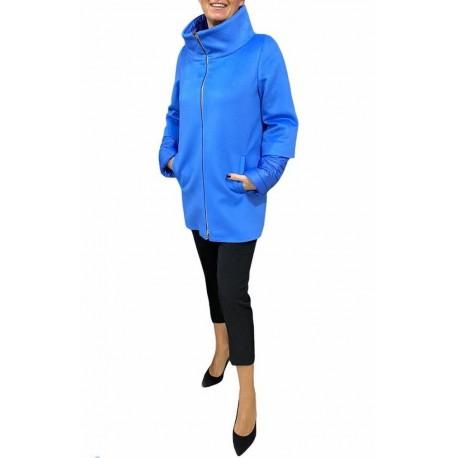 Cappotto Donna con manica 3/4 trapuntata azzurro Piacenza