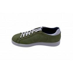 Sneachers in nabuk verde fdo bianco