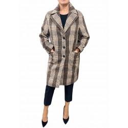 Cappotto Donna corto a quadri moro