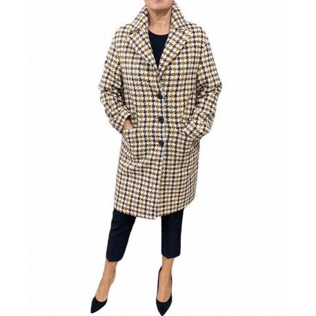 Cappotto Donna corto a piedipull Marrone/giallo