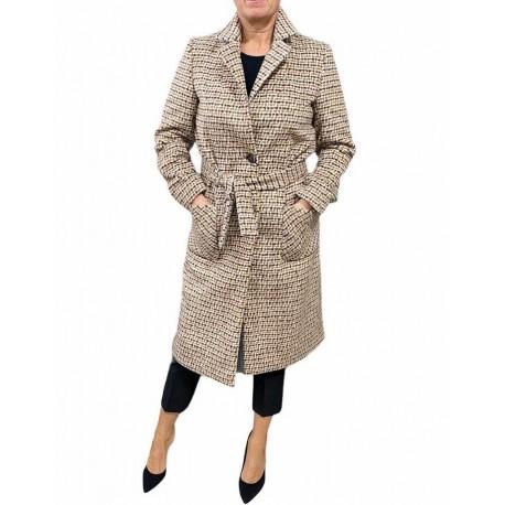 Cappotto Donna lungo a piedipull con cinta