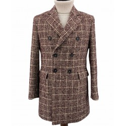 Cappotto Uomo in Tweed con Martingalla