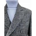 Cappotto Uomo in Tweed con Martingalla